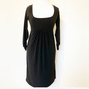 Norma Kamali black stretchy longsleeve dress SZ S